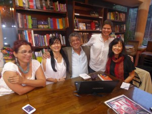 NW with Guatemalan Poets and Writers after reading, Guatemala City